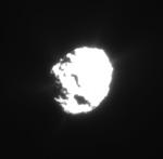 Photographie de la comète Wild-2 prise par la sonde Stardust en janvier 2004 ; crédit : NASA