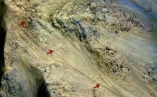 La cratère Gale sur Mars