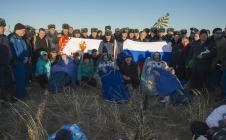 Yurchikhin, Nyberg et Parmitano de retour sur Terre (2013)