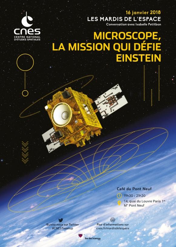 Mardis de l'Espace : 16 Janvier 2018 - Microscope, la mission qui défie Einstein
