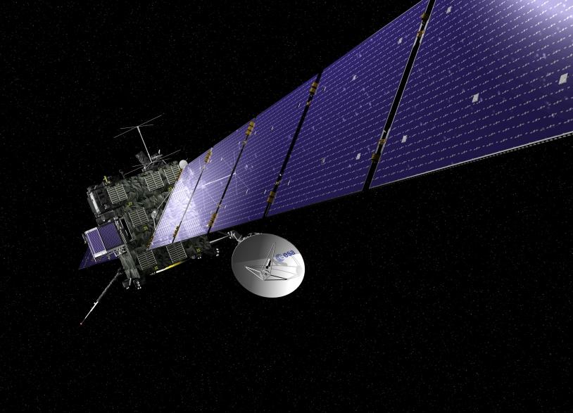Rosetta began its long voyage to 67P/Churyumov-Gerasimenko in 2004. Credits: ESA, image by AOES Medialab.