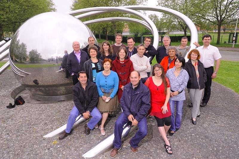 L'équipe du projet DECLIC au Centre spatial toulousain. Crédits : CNES/E. GRIMAULT.