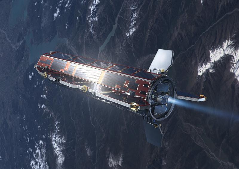 ESA's GOCE satellite in orbit. Credits: Ill. ESA.