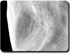 Zoom sur la surface de Lutetia